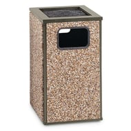 Essence 20 Gallon Trash Receptacle, Flat Ash Top