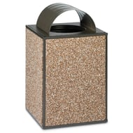 Essence 48 Gallon Trash Receptacle, Curved Top