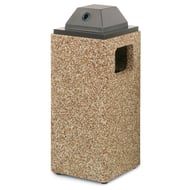 Structure 8 Gallon Trash Receptacle, Ash Cover Top