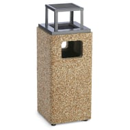 Structure 8 Gallon Trash Receptacle, Rain Bonnet Ash Top