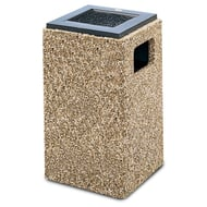 Structure 20 Gallon Trash Receptacle, Flat Ash Top