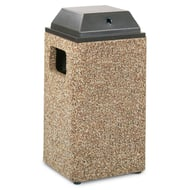 Structure 20 Gallon Trash Receptacle, Ash Cover Top