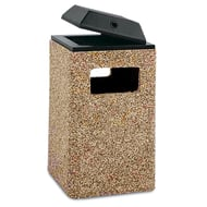 Structure 32 Gallon Trash Receptacle, Ash Cover Top