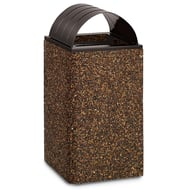 Structure 48 Gallon Trash Receptacle, Curved Top
