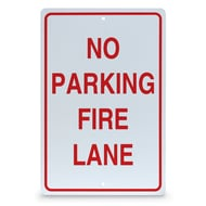 "18"" x 12"" No Parking Fire Lane Sign"