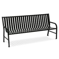 WITT Oakley 4' Metal Slatted Contour Bench