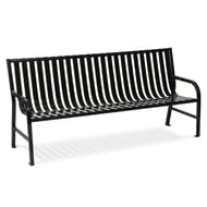WITT Oakley 5' Metal Slatted Contour Bench
