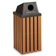 Anova Recycled Plastic 30 Gal Slat Recycler, Recycler Top