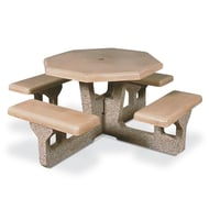 Petersen Octagonal Concrete Picnic Table