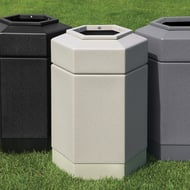 Commercial Zone PolyTec 30 Gallon Open-Top Hex Waste Container