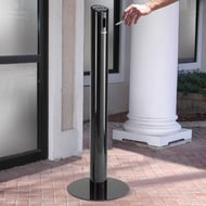 Commercial Zone Smokers' Outpost Smoke Stand with Black Finish