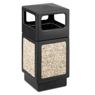 Safco CanMeleon 38 Gallon Receptacle with Stone Panels and Side Opening Top