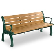 Frog Furnishings Heritage 5' Recycled Plastic Bench with Cast Aluminum Frames