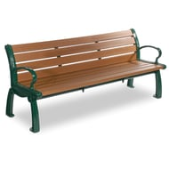 Frog Furnishings Heritage 8' Recycled Plastic Bench with Cast Aluminum Frames