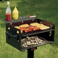 Park Grill with Inground Mount