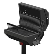 Pilot Rock EC-26 Series 320 Sq. Inch Covered Charcoal Park Grill with Inground Mount