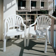 Pacific Fan Back Chair, White, Case of 4