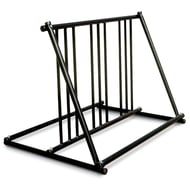 Madrax Grand Stand Steel Bike Rack with Black Finish, 6-Bike Capacity