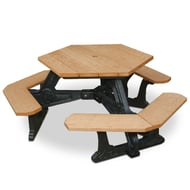 Polly Products Plaza Hexagonal Picnic Table