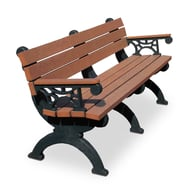 Polly Products Monarque 6' Bench with Armrests