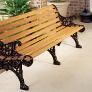 Kings River Casting Renaissance 5' Wood Slat Bench
