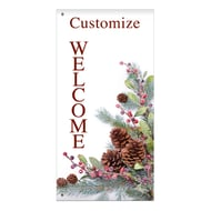 "60"" Pine Cone Trees Banner"