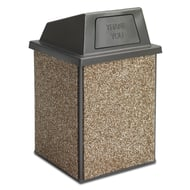 Essence 48 Gallon Trash Receptacle, Push Door Top