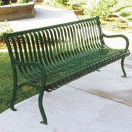 Kings River Casting 6' Iron Valley Steel Slat Bench