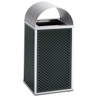 Element 30 Gallon Trash Receptacle, Curved Top
