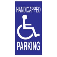 "Anova 21""H x 10 1/2""W Plastic Sign-Handicap Parking with Symbol"