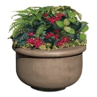 "Petersen Fabres 42""H x 42""Dia. Concrete Planter"