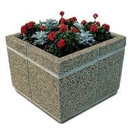 "Petersen Concrete 18"" Square Standard Planter"