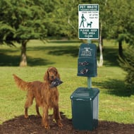 DOGIPOT Polyethylene Pet Waste Disposal Station