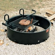 Pilot Rock FA-30 Series Campfire Ring Grill with 9