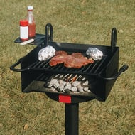 Adjustable Park Grill with Portable Base