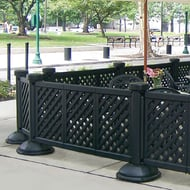 Portable Patio Fence, 3-Panel Section