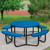 Round Expanded Steel Table, Portable Frame