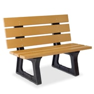 Anova Recycled Plastic 4' Wide Plank Bench