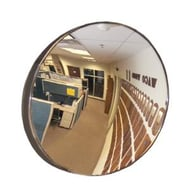 "See All Industries 18"" Round Convex Indoor Acrylic Security Mirror"