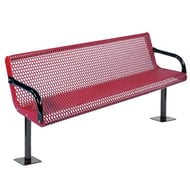 Anova Courtyard 6' Bench, Surface Mount