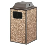 Essence 20 Gallon Trash Receptacle, Ash Cover Top