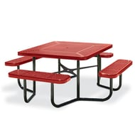 Square Perforated Steel Table, Portable Frame