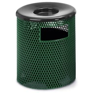 Anova Ultra 23 Gal Expanded Steel Trash Receptacle, Ash Top