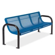 Ultra 6' Expanded Steel Bench, Portable/Surface Mount