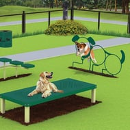 DogiPark® Dog Shaped Three-Hoop Dog Jump