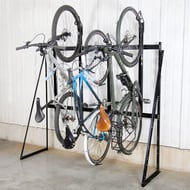 Saris Non-Locking Single Sided Vertical Bike Rack, 4-Bike Capacity