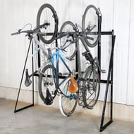 Locking Vertical Bike Rack, 4-Bike Capacity