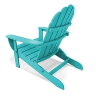 Polywood® Classic Oversized Recycled Plastic Curveback Folding Adirondack Chair, Vibrant Colors