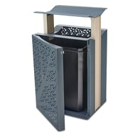 Airi Leaf 45-Gal. Trash Receptacle with Side Door