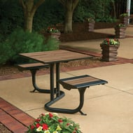 Beacon Hill Thermory Bistro Table, 2 Flat Seats